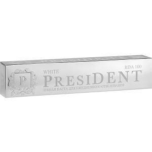 Зубная паста President White отбеливающая, 75 мл