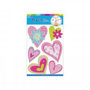 Наклейка Сердечки с цветами CBA3518, Room Decor