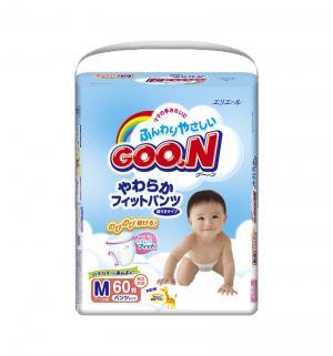 Подгузники-трусики  M для девочек (7-12 кг) 58 шт. Goon