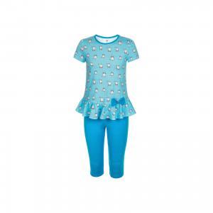 Комплект: туника и бриджи  для девочки M&D. Цвет: голубой