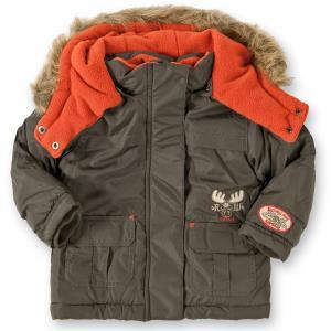 Зимняя куртка  для мальчика BLUE SEVEN. Цвет: темно-коричневый