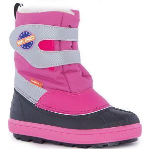 Сноубутсы Baby Sports для девочки DEMAR. Цвет: розовый