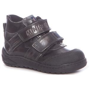 Ботинки  для мальчика Minimen. Цвет: черный