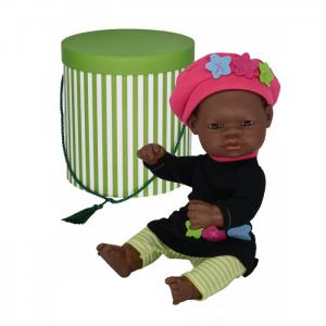 Кукла Девочка азиатка с двумя комплектами одежды в  цилиндре 32 см Miniland