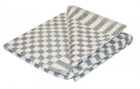 Одеяло Ермошка байковое Клетка 140х100 см Ермолино