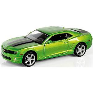 Металлическая машинка  Chevrolet Camaro 1:32, зеленый металлик RMZ City