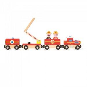 Деревянная игрушка  Поезд на магнитах Пожарные с фигурками Janod