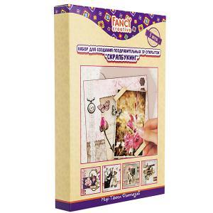 Набор открыток  Скрапбукинг. Ретро Fancy Creative. Цвет: розовый
