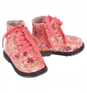 Ботинки , цвет: коралловый Indigo Kids