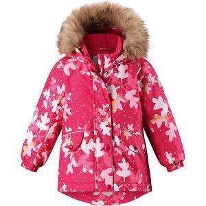 Куртка Mimosa  для девочки Reima. Цвет: розовый