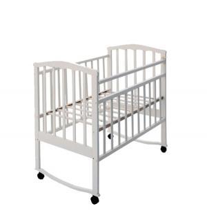 Кровать-качалка  Золушка 1, цвет: белый Агат