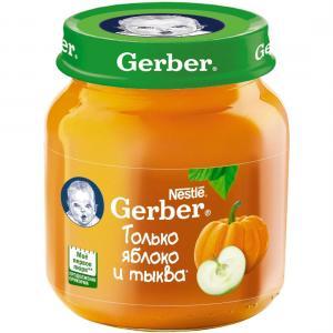 Пюре  яблоко-тыква с 5 месяцев, 130 г Gerber