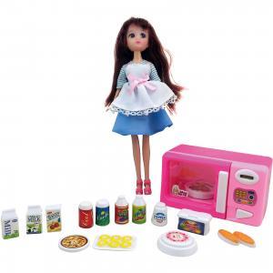Игровой набор Кукла, микроволновая печка, продукты, Krutti