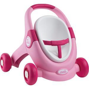 Коляска для кукол-ходунки  MiniKiss 3 в 1 Smoby. Цвет: розовый