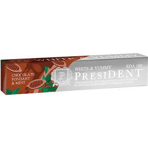 Зубная паста President White & Yummy Шоколадный фондан с мятой, 75 г