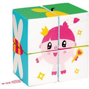 Мягкие кубики  Собери малышарика Мякиши. Цвет: разноцветный