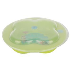 Тарелка  лавровый лист С крышкой, цвет: зеленый Bebe confort