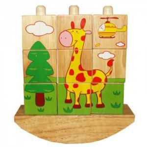 Деревянная игрушка  Забавные кубики QiQu Wooden Toy Factory