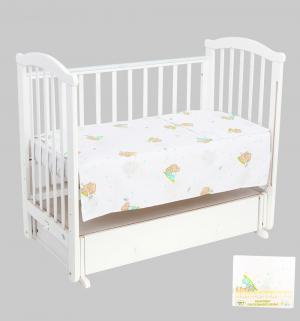 Комплект постельного белья , цвет: бирюзовый Leader Kids