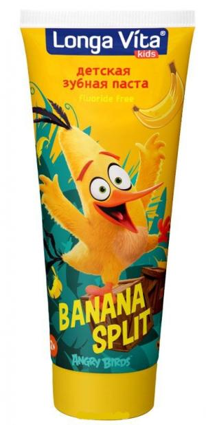 Зубная паста  Angry Birds Banana Split, 75 гр Longa Vita