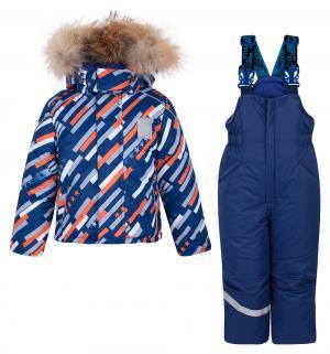 Комплект куртка/полукомбинезон  Космос, цвет: синий/оранжевый Stella