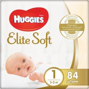 Подгузники Элит Софт 1 (3-5 кг) 84 шт. Huggies