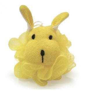 , Мочалка в форме животных, хлопок, полипропилен желтый Сказка
