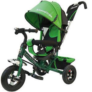 Трехколесный велосипед  с надувными шинами 10и 8 Lexus Trike. Цвет: зеленый