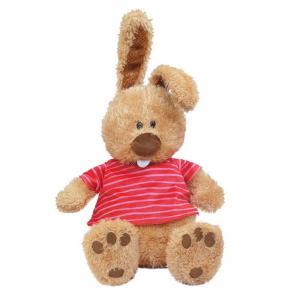 Мягкая игрушка  Кролик ушастик в маечке 25 см Maxitoys