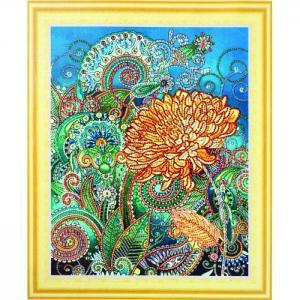 Алмазная картина с фигурными стразами Золотая хризантема Color Kit