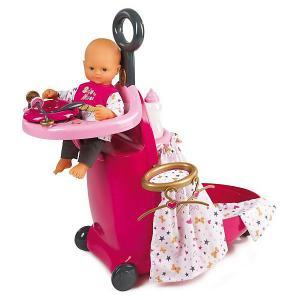 Игровой набор  для кормления и купания пупса в чемодане Baby Nurse Smoby. Цвет: разноцветный