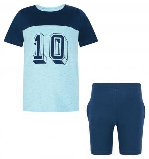 Комплект футболка/шорты , цвет: голубой Tiger baby & kids
