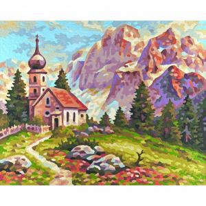 Картина по номерам Церковь в Доломитах 24х30 см Schipper
