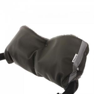 Муфта для рук на коляску (экокожа/мех) Pituso