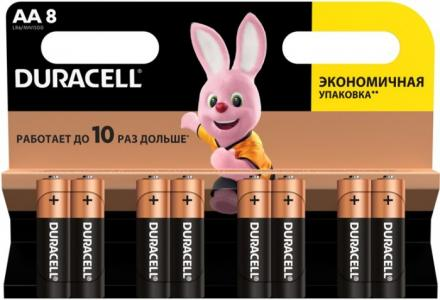 Батарейка алкалиновая Basic AA (LR06) 8 шт. Duracell