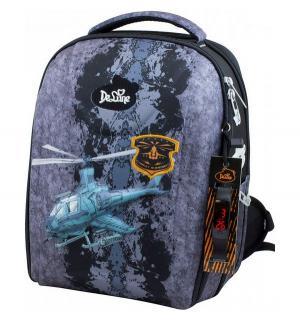 Ранец школьный  с мешком пеналом и часами 28х16х36 см De Lune