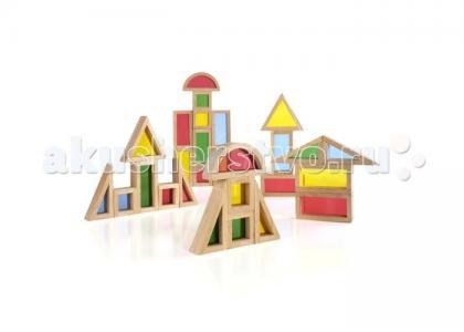 Деревянная игрушка  Сортер Rainbow Blocks - Радужные блоки набор 30 деталей Guidecraft
