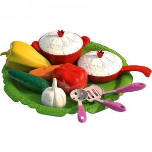Набор овощей и кухонной посуды Волшебная хозяюшка, Нордпласт