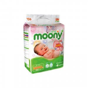 Подгузники  для новорожденных, NB 0-5 кг, 90 шт. Moony