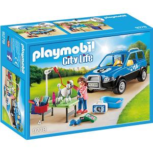 Конструктор Playmobil «Отель для животных: Мобильный грумер животных» PLAYMOBIL®