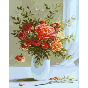 Картина по номерам на подрамнике Розовый букет 50х40 см Color Kit