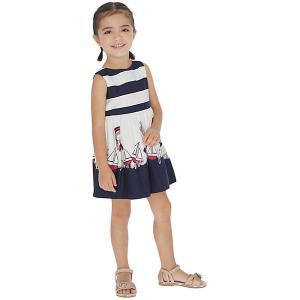 Платье Mayoral. Цвет: темно-синий
