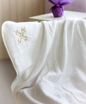 Полотенце уголок с вышивкой для крестин Мой Ангелочек