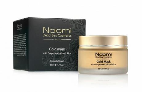 Золотая маска с маслом косточек винограда и алоэ 50 мл Naomi