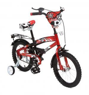 Двухколесный велосипед  G16BD406, цвет: красный/черный Leader Kids