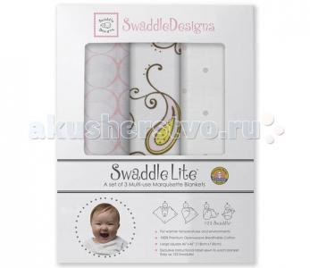 Пеленка  SwaddleLite Paisley комплект 3 шт. SwaddleDesigns