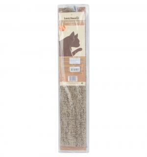 Когтеточка для кошек  сизалевая с кошачьей мятой luxe, цвет: бежевый, 60*12см Beeztees