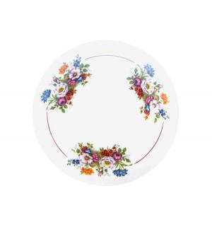 Сухарница  Букет цветов, цвет: белый Добрушский ФЗ