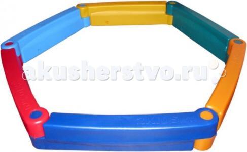 М Пластиковая песочница из 6-ти элементов 2Kids