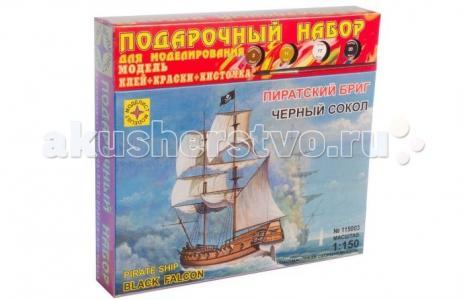 Модель Подарочный набор Пиратский бриг Черный сокол Моделист
